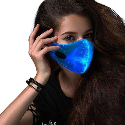 en leuchtendes licht für männer Frauen Rave Maske Musik Party Weihnachten Halloween leuchten Maske ()