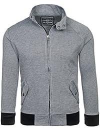 BOLF – Sweat-shirt – Fermeture éclair – DAVID COPPER 8003B – Homme