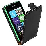 Microsoft Nokia Lumia 530 Schutzhülle Premium Leder Rauf