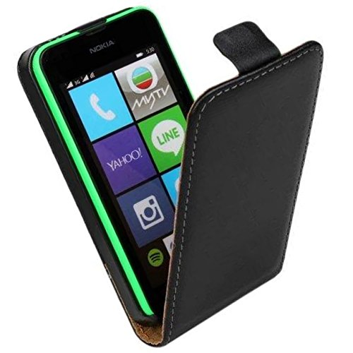 microsoft-nokia-lumia-530-telefono-movil-funda-soundmae-de-cuero-genuino-de-arriba-a-abajo-flip-styl