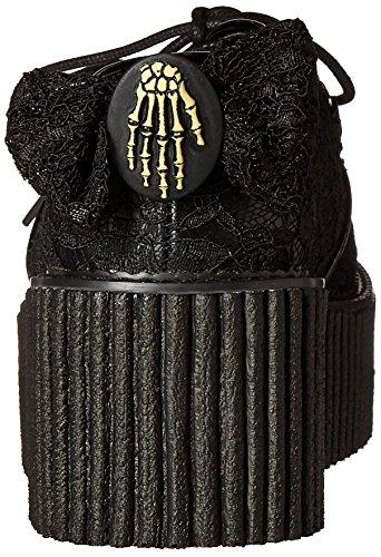 Demonia Damen Creeper-212 Oxford Schwarz (Schwarz (Blk Vegan Leather-Lace))