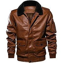 Italily Uomo Risvolto Collo di Pelliccia Pelle Tasca Volante Giacca Tattico  Outwear Cappotto Ragazzi PU Jacket 292cdb0f496