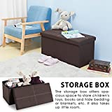 Folding Storage Bench Ottoman Lightweight Foldaway Linen Fabric Storage Box Foot Stool Pouffe LIFE CARVER® (76 x 38 x 38 cm)