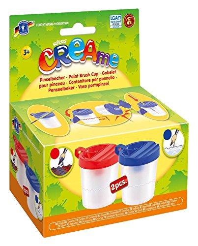 Feuchtmann Spielwaren 6347008 - CREAme 2 Pinselbecher mit Auslaufschutz Wasser Becher