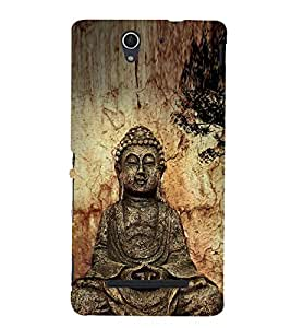 Fuson Premium Back Case Cover Lord Buddha With black Background Degined For Sony Xperia C3 Dual D2502::Sony Xperia C3 D2533