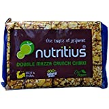 Nutritius 2-in-1 Chikki of Roasted Peanut and Sesame Seeds, 400g (4 Packs of 100g Each)