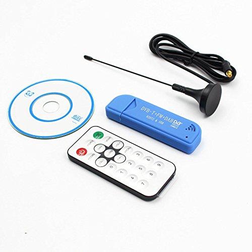 ETbotu USB2.0FM DAB DVB-T RTL2832U r820t2RTL-SDR SDR Dongle Stick Digital TV-Tuner Fernbedienung Infrarot-Empfänger mit Antenne