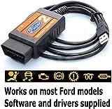 HawksTech Ford F Super Interface Scanner Scan Tool USB Reader KA Focus Mondeo Fiesta OBD