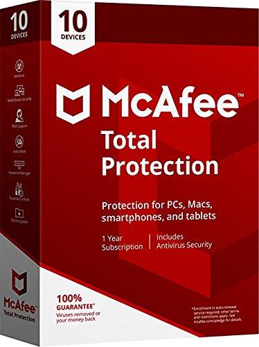 McAfee 2019 MTP 10 Protezione totale con 10 dispositivi: nessuna chiave di attivazione del CD
