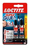 Loctite Super Glue-3 Power Flex Gel, colle forte enrichie en caoutchouc, colle gel ultra-résistante, à séchage immédiat, colle transparente, lot de 2 tubes 3 g