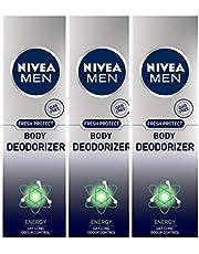 Nivea Men Fresh Protect Body Deodorizer Energy, 120 ml (Pack of 3)