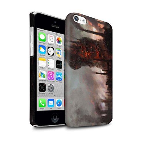 Offiziell Chris Cold Hülle / Matte Snap-On Case für Apple iPhone 5C / Tränen der Eva Muster / Gefallene Erde Kollektion Industrie Maschine