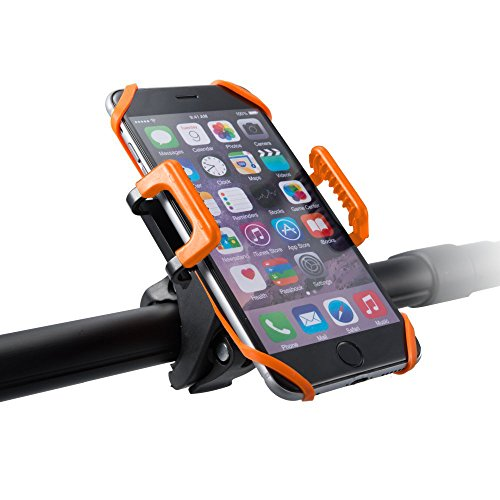 Support vélo du guidon TaoTronics pour Smartphone, GPS et autres appareils (se détache en un seul clic, rotatif à 360, bracelet en caoutchouc)