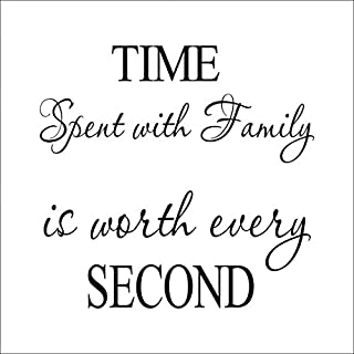 45*36cm Time Spent With Family Is Worth Pvc Diy Wall Sticker Removable Mural Home Decor Poster Background