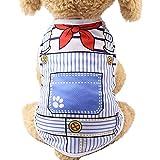 YWLINK Sommer-Haustier-Hundekleidung HüNdchen Cartoon Süß Drucken Katzenwesten-Shirt(Himmelblau,XL)