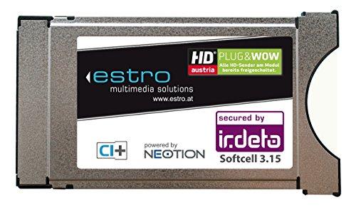 Estro Irdeto CI+ Modul für die grüne ORF HD ICE Karte HDTV CAM CI plus (nicht geeignet für HD+ in Deuschland)