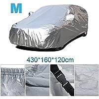 Vinteky®Cubierta del coche a prueba de agua a Prueba de Polvo Anti-UV Resistente lonas llenas de garaje cubierta exterior especial resistente al agua para espejo retrovisor (M)