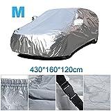 Vinteky® Auto-Faltgarage wasserdicht staubdicht UV-beständig mit Spezial-Abdeckung für Rückspiegel. M