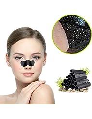 Blackhead Maske, Aktivkohle Mitesser Maske,Tiefenreinigende Nasenstrips, Clear-Up Strips, Black mask, Pore strips, Blackhead Peel Off Maske (10 Stück)