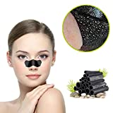 Blackhead Maske, Aktivkohle Mitesser Maske,Tiefenreinigende Nasenstrips, Clear-Up Strips, Black mask, Pore strips, Blackhead Peel Off Maske (10 Stück)