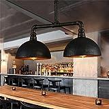 éclairage romantique Loft vintage country américain fer forgé industriel lustre tuyau personnalité créative...