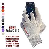 AXELENS Handschuh-Berührungsschirm taktilen Winterweichheit und Komfort(Trost) - Unisex- - Innen(Im Inneren) Plüschartig - Für Smartphone, Gefängnis-Zelle und Tablette – BEIGE