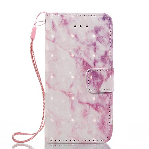 EKINHUI Case Cover Marmor Stein Grain Texure Pattern PU Ledertasche Cover, Retro Bookstyle Flip Stand Case mit Magnetverschluss & Card Slots & Lanyard für iPhone 5S & SE ( Color : F ) B