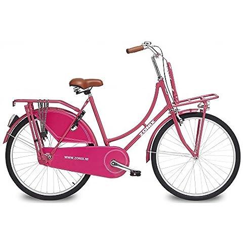 Vélo Fille Zonix Oma 26 Pouces Frein à Rétropédalage Rose 85% Assemblé