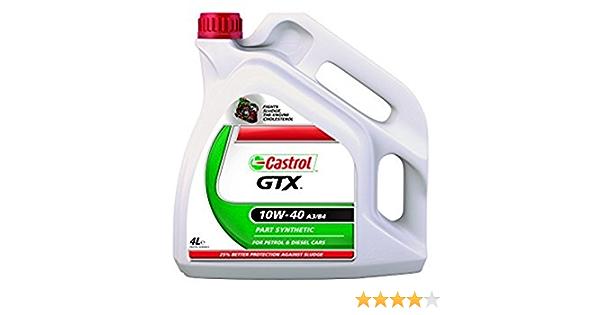 Castrol Gtx 10 W 40 Motoröl Für Benzin Und Dieselmotoren Teilsynthetisch 4 Liter Auto