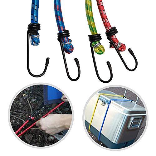JJOnlineStore-12Stück 30cm 45cm 60cm Bungee Cord Elastic Gepäck Riemen Seil Haken Stretch Tie Down Car Bike -