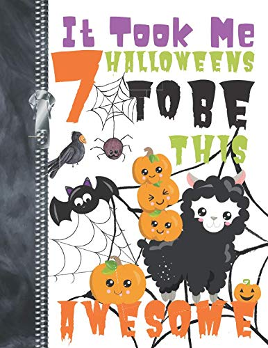 It Took Me 7 Halloweens To Be This Awesome: Adorable Pumpkin Llama Doodling & Drawing Art Book Sketchbook Journal For ()