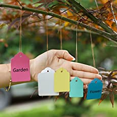 Generic 50pcs Gardening Plant Waterproof Hanging Tags Flower Vegetable Planting Label Tools Size: 5x7cm (L*W)
