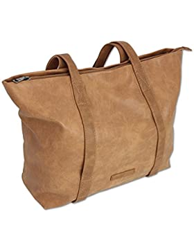 Edle Damen Handtasche Shopper Schultertasche mit 2 Henkeln Tragetasche Groß in 3 Farben (3448)