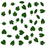 40foglie adesive da muro, auto, pc, frigoriferi etc, Vinile, Moss Green, 40 x leafs - 7cm width of each leaf