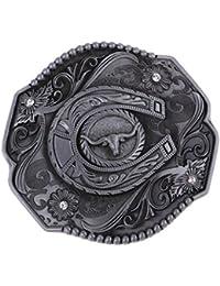 MagiDeal Boucles de ceinture Classique Style de Western Cowboy Motif pour  Homme 7d522cc555d