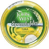 John West Mayo Sweetcorn Spreadable Tuna, 80g
