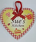 SUE Named personalised Heart Shaped Kitchen Magnetic Plaque By Sterling Effectz