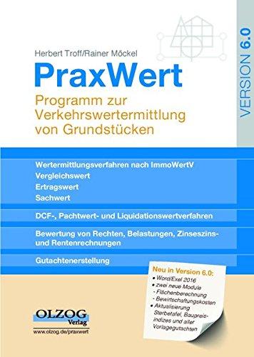 Preisvergleich Produktbild PraxWert Version 6.0: Programm zur Verkehrswertermittlung von Grundstücken