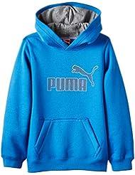 Puma Pullover Fun KA SP Hooded Sweat FL - Sudadera con capucha para niño, color azul, talla 164 cm