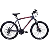 "AMMACO ALPINE SPORT 21 SPEED MENS ALLOY MOUNTAIN BIKE WITH DISC BRAKES 26"" WHEEL 19"" FRAME GREY"