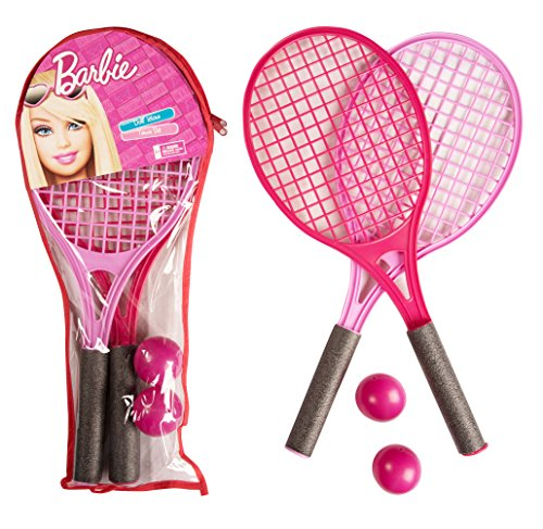 Mattel Barbie|Tennis Racket Set and Balls |Carry Case|Premium Quality, EN71|Kids Sporting Goods