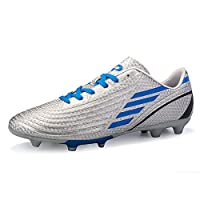 DoGeek Football Boots Junior Adults Soccer FG Football Trainers Grey