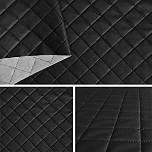 Simili cuir Piqués noir tissu ameublement vendu au mètre SAM191_10