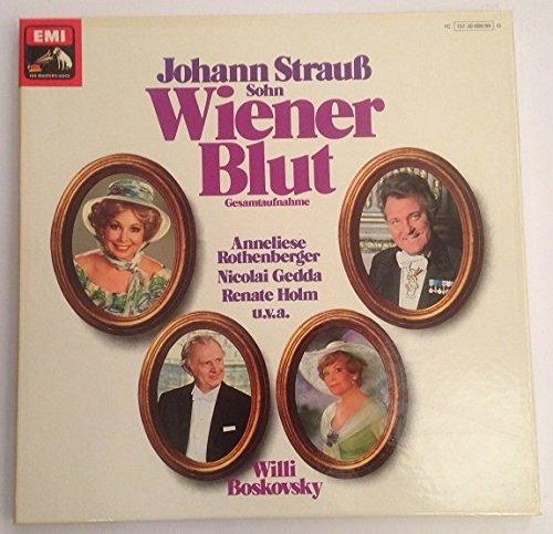 Wiener Blut Gesamtaufnahme Willi Boskovsky 2 LP Box mit Heftbeilage