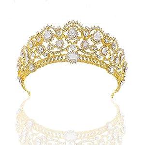 Simsly – Hochzeits-Diadem, Braut, Blumen, Krone für Frauen – HG-25