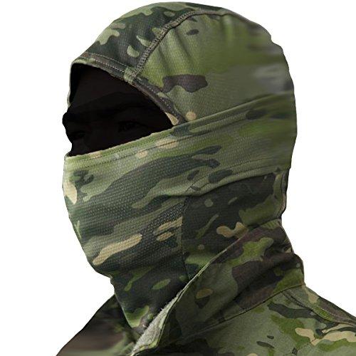 Sturmhaube Gesichtshaube Balaclava Maske Skimaske Gesichtsmaske Motorradmaske Sturmmaske Biker Motorrad Gesichtsschutz Sport, Funsport (Grün) - Fußball-helm-maske