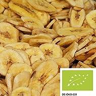 chips de plátano tostado 1kg, frutos secos delicados de cultivo biológico-controlado, azucarados con azúcar de caña orgánico