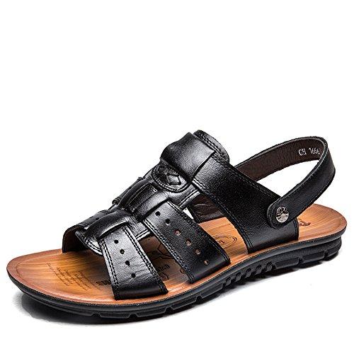 CUSTOME Hommes Chaussures Cuir Appartement Été Vacances Plage Mode Loisir Poids Léger Glisser Sur Confort Chaussures des Sandales