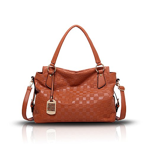 Tisdaini Neue Damen Handtasche Retro-Normallack Mode Muster weichen Tasche Schulter Messenger Bag Handtaschen -