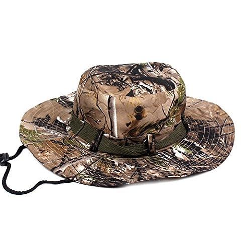 Idopy Outdoor Military Snap Wide-Brim Camouflage Boonie Bucket Hat (5#)